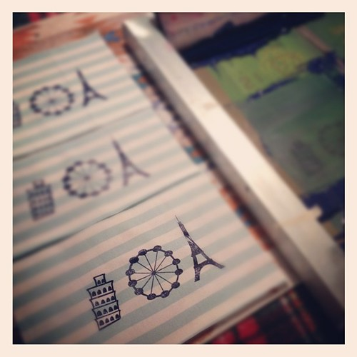 printing up a custom order...very French! | by karen lewis textiles