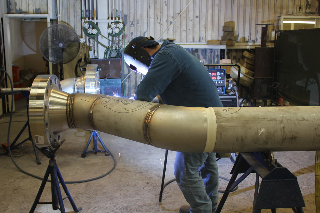 Welding a stainless steel pipe spool boccard piping flickr