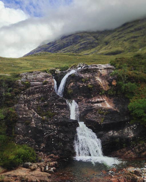 The Meeting of the Three Waters, Glen Coe, Highlands  #scenery #Scottishhighlands #scottishscenery #Scotland #waterfall