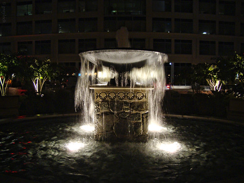 small lighted fountain | by greyloch