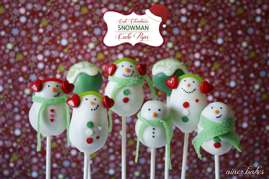 the cute snoman cake pops family visit blogpost here www flickr. Black Bedroom Furniture Sets. Home Design Ideas
