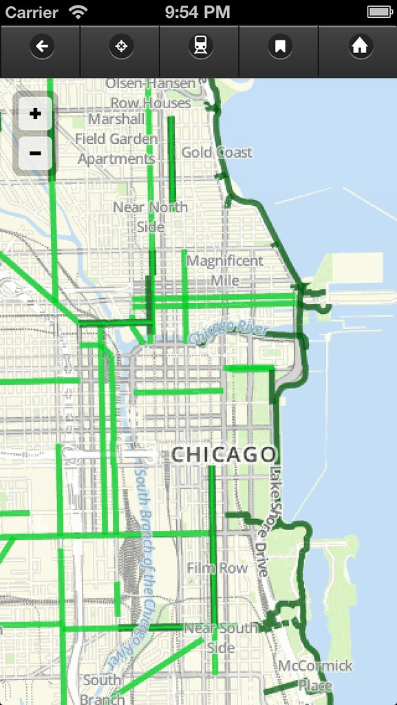 Default map view in Chicago Bike Map app v05 The Chicago Flickr