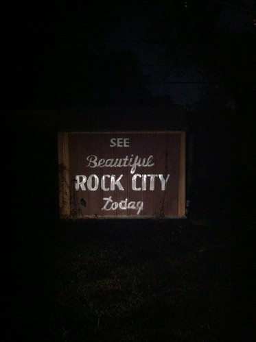 """See Beautiful Rock City Today""... On my Shed (Work In Progress) 