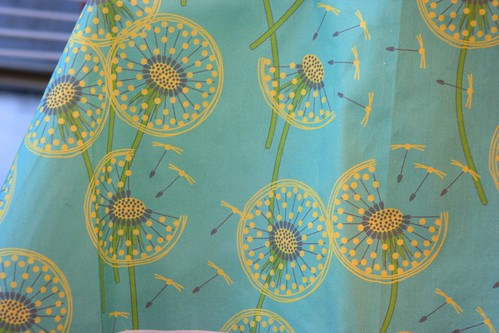 Winner:  fanciful flight - make a dandelion wish! by coggon | by Spoonflower Fabrics
