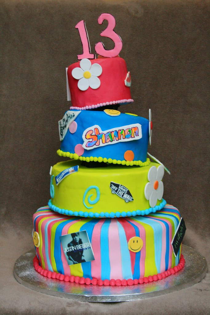 F Birthday Cake