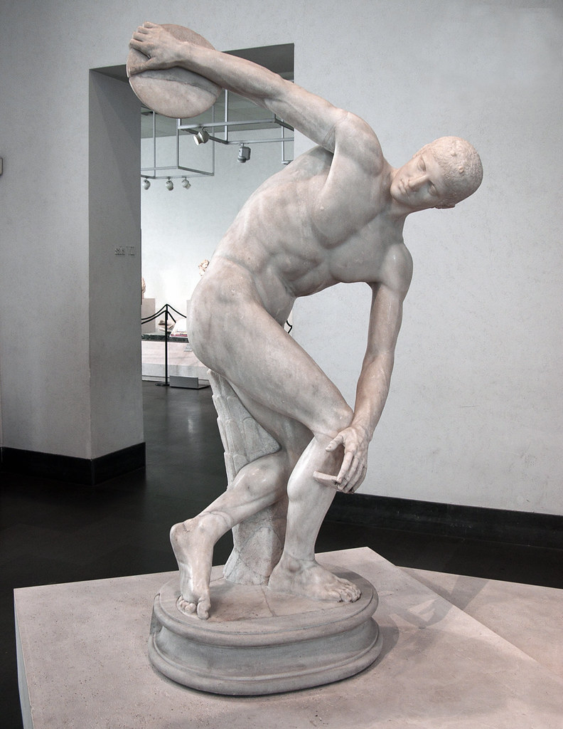 the discus thrower The discus thrower - powerpoint ppt presentation by tacita follow user why does the narrator say the laughter could cure cancer because every time the man throws the plate he feels a triumph.