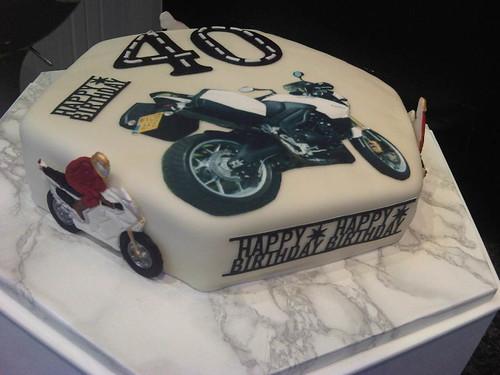 Motorcyclist Birthday Cake