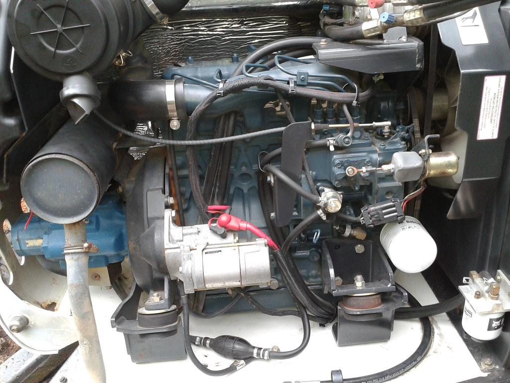bobcat 331 engine kubota v2203 mellimac flickr. Black Bedroom Furniture Sets. Home Design Ideas