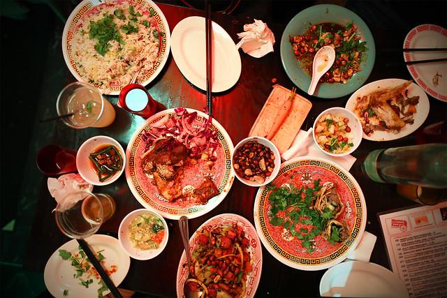 ... tea smoked chicken, Chongqing chicken wings, Beijing beef pancake