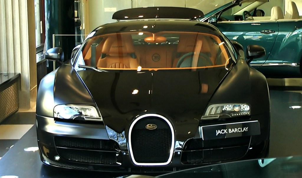 Bugatti Veyron Supersport Matte Black In Jack Barclay L
