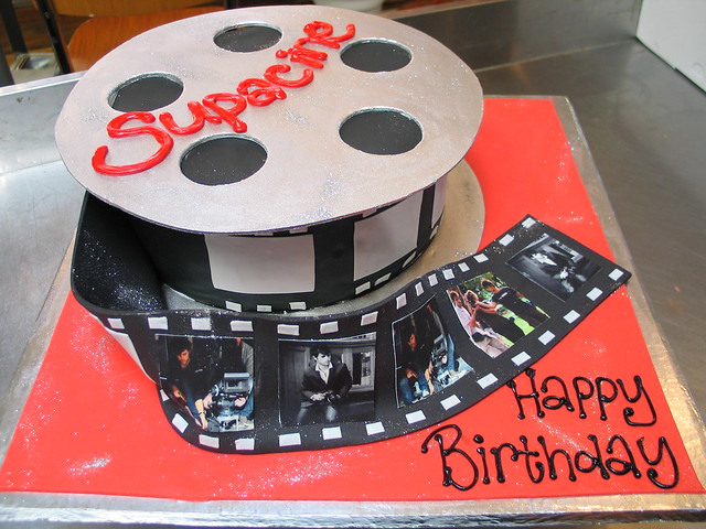 The Ultimate Film Reel shaped Wicked Chocoalte Birthday ca ...