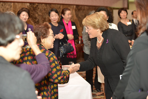 UN Women Executive Director Michelle Bachelet attends a dinner reception hosted by Japan National Committee | by UN Women Gallery