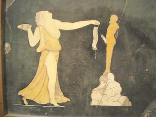 Dancing Maenad Near Priapus Statue Quot Opus Sectile Quot Colo