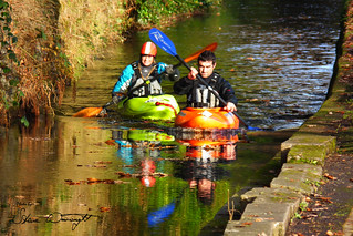 2012 - 11 - 18 - HS10 - Kayakers on Llangollen Canal - Chainbridge Hotel - Llangollen - 001 | by s wainwright