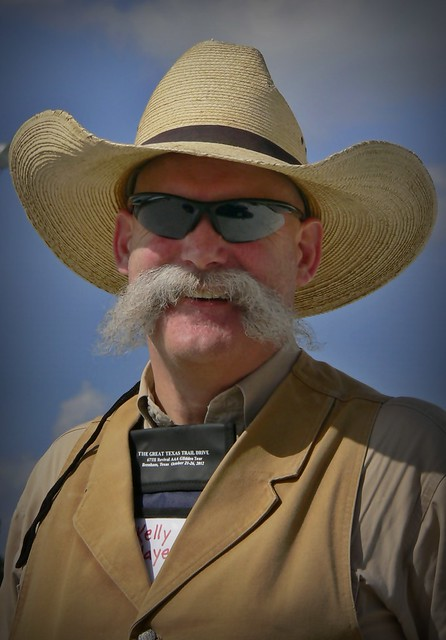 Austin Car Show Cool Mustache Cowboy Thank You For