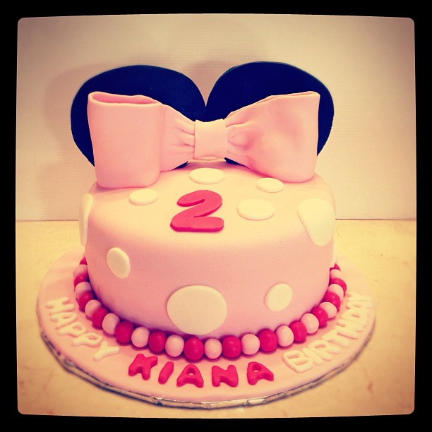 Kiana 2nd Birthday #cake #minnie #pink #girl Fira Flickr