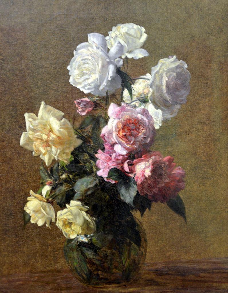 henri fantin latour roses 1883 at kunsthaus z rich zu flickr. Black Bedroom Furniture Sets. Home Design Ideas