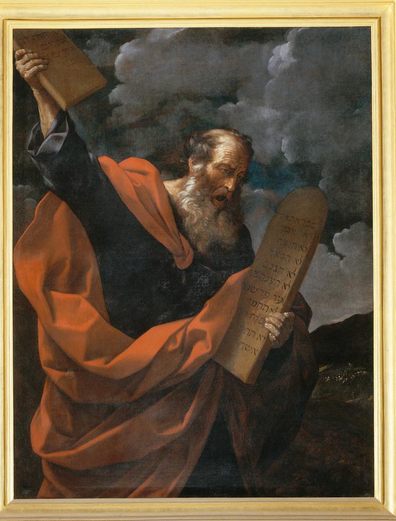 Mose distrugge le tavole della legge guido reni 1575 - Le tavole della legge ...