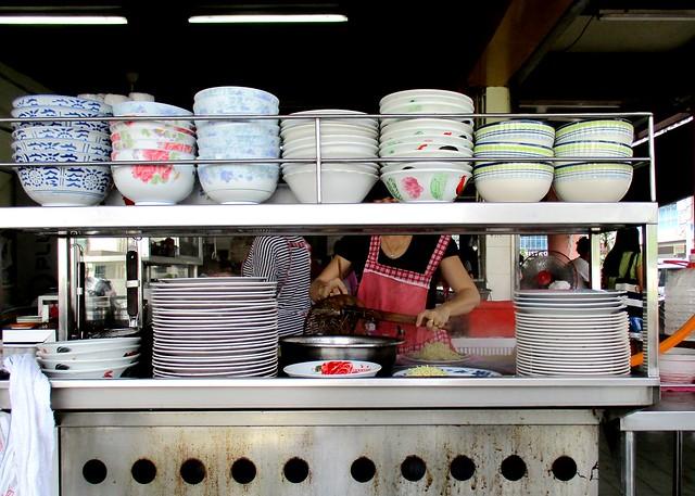 Kampua stall close up