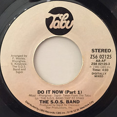 THE S.O.S. BAND:DO IT NOW(LABEL SIDE-A)