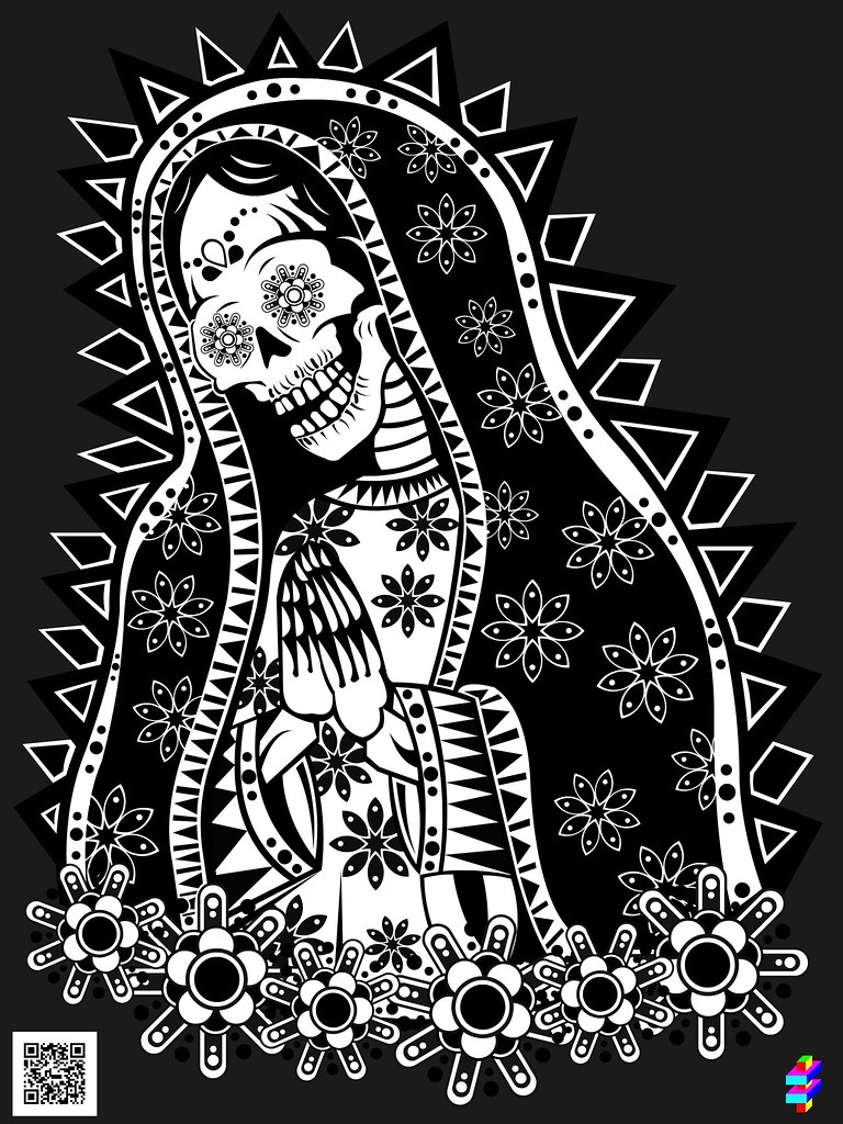 Mary free coloring pages on art coloring pages - Toll Troll Santa Muerte Denilson Medeiros Flickr