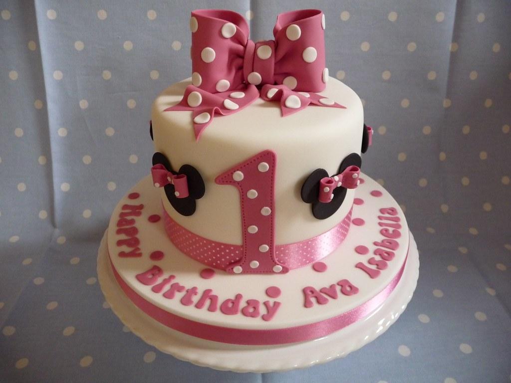 Minnie Mouse Birthday Cake Tutorial