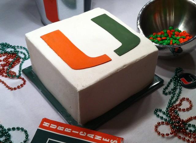 Miami Hurricanes Birthday Cake