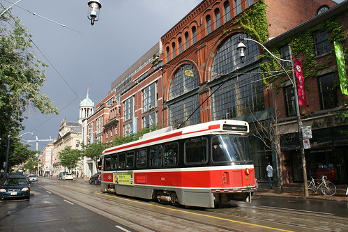 Street car in King street, Toronto, Canada