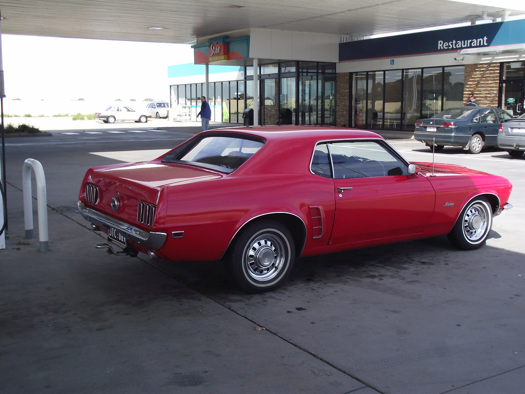 1969 Ford Mustang Coupe This Was Fueling Up When I Hea Flickr Msrp By Five Starr Photos Aussiefordadverts
