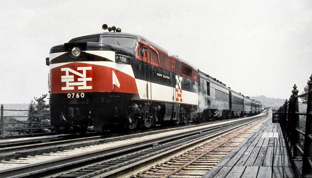 ... New Haven Railroad DER-3a ALCO PA-1 locomotive # 0760, is seen