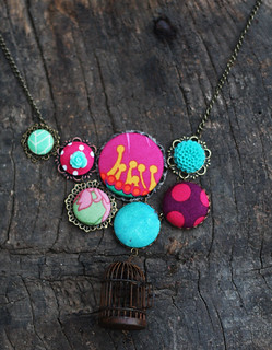 fabric button necklace | by Katarina Roccella
