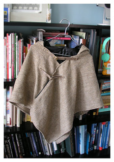 Sewing project of the week: Hooded Poncho w/ pocket | by m patrizio