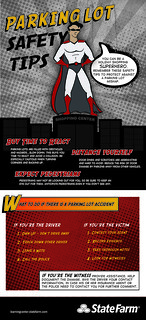 Holiday Shopping Superhero - Parking Lot Safety Infographic | by State Farm