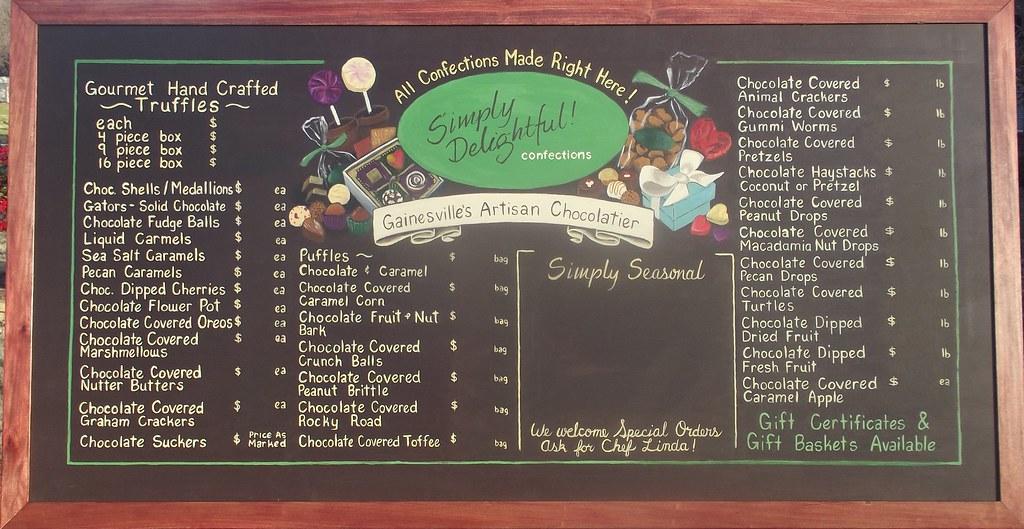 Simply Delightful Confections Chalkboard Menu Board | Flickr