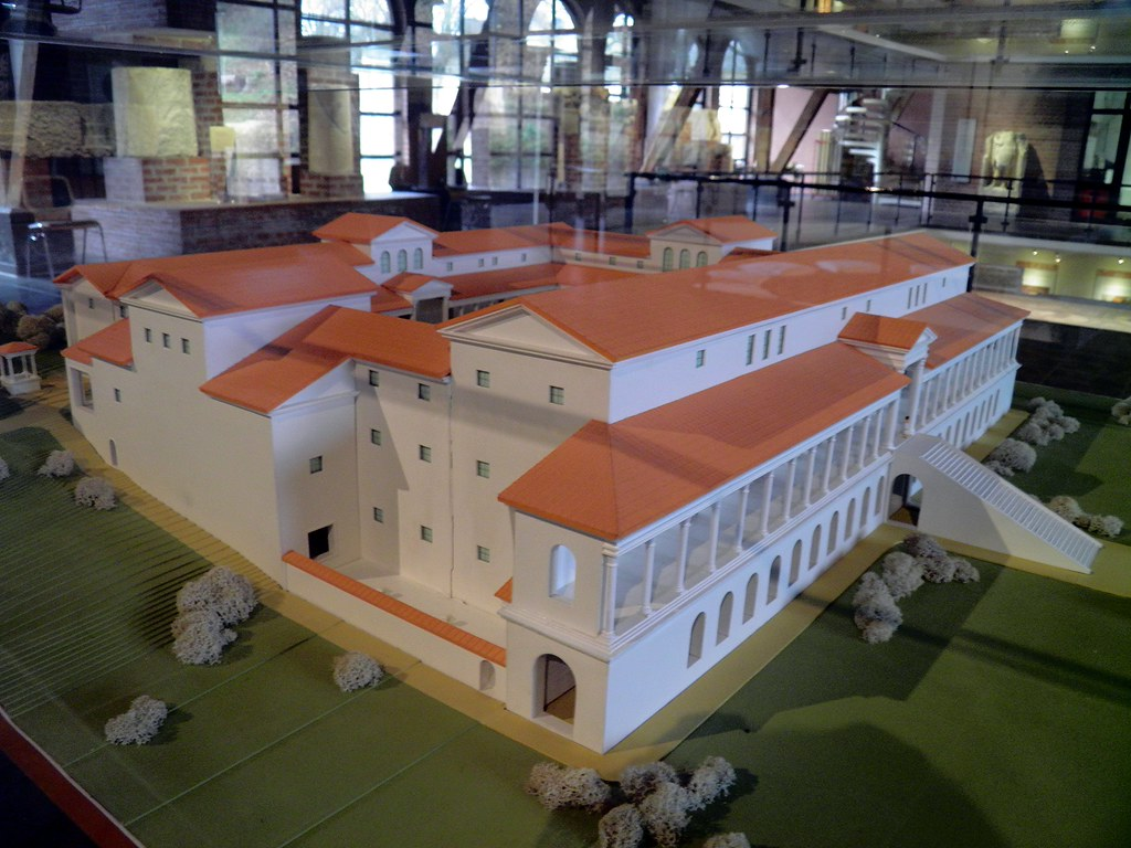 how to make a model roman villa