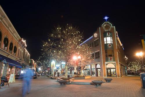 Old Town Fort Collins Old Town Fort Collins Is Lit Up