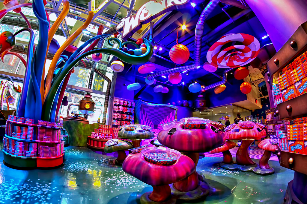 wonka candy this is one of the newer sections at the