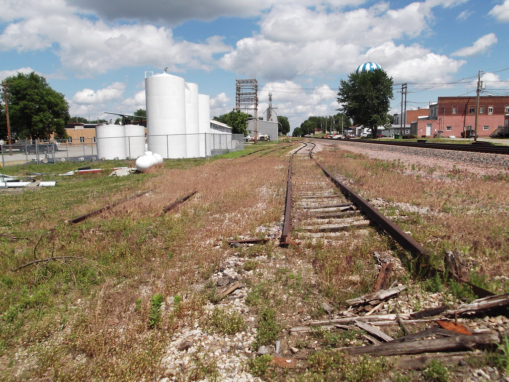 Ogden Iowa Union Pacific Railroad Siding Abandoned Tra
