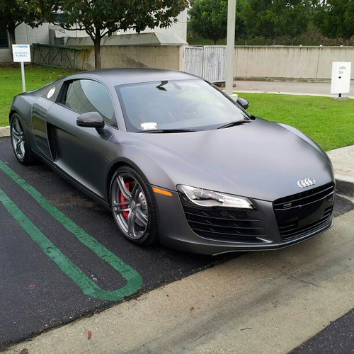 Factory Matte Grey Audi R8 Wantanr8 L4p Carsandcoffee