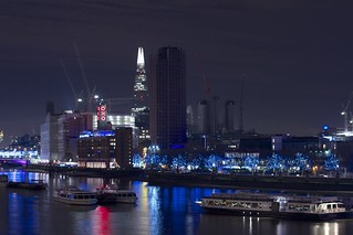 Shard and Oxo tower, London Night photo | by britsinvade