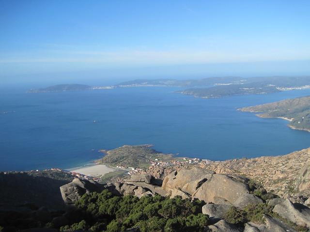 Vista desde A Moa en el monte Pindo