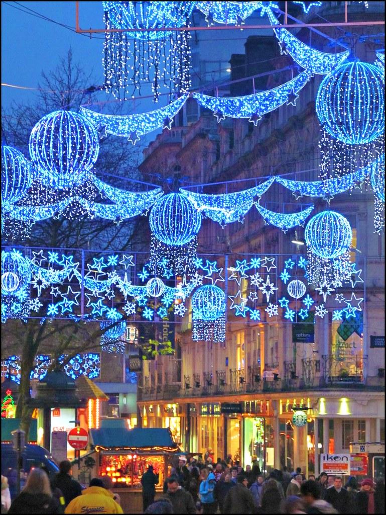 Birmingham Christmas Lights.Birmingham Christmas Lights New Street Lights And German C