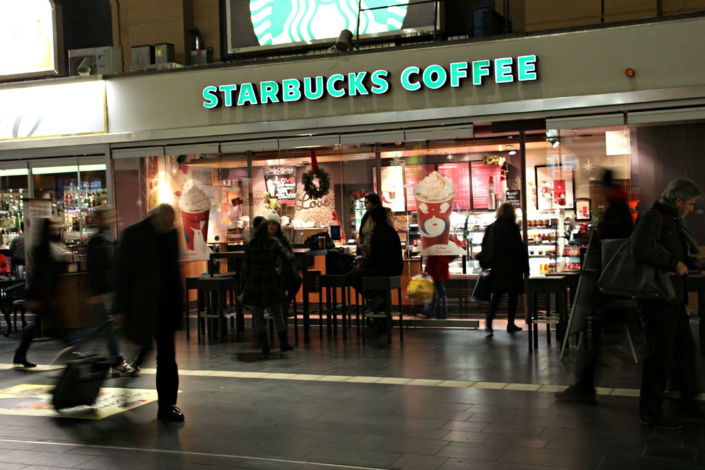 With its first store opening in Seattle, Starbucks is a global coffee company with coffee houses located around the world. Providing frappes, lattes and a range of beverages and cafe food, Starbucks is know for their comfortable atmosphere and large range of hot and iced beverages.