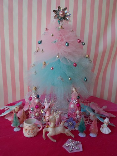 Vintage White Christmas Tree