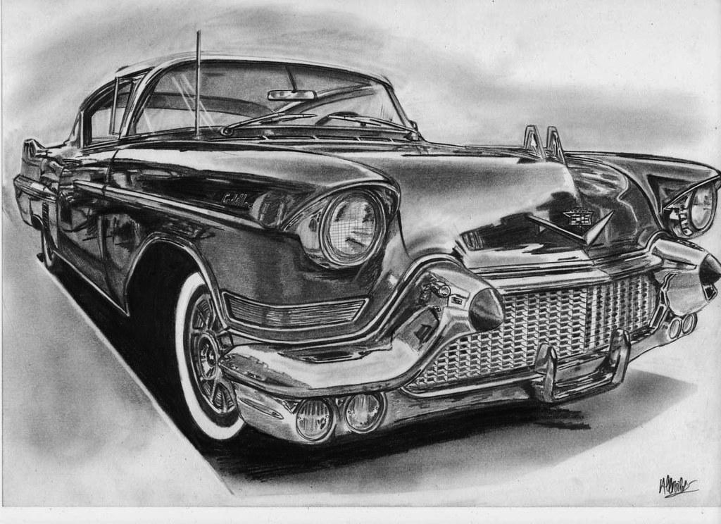 Chevorlet Old Car Sketch