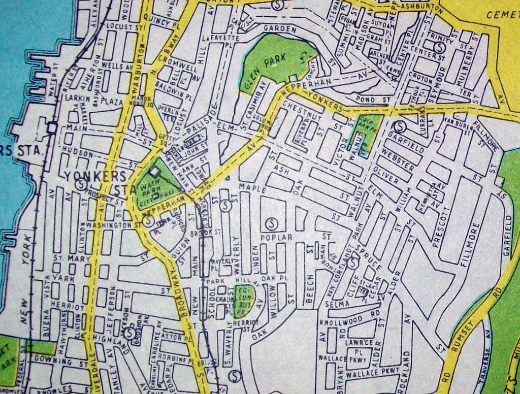 Map Of Yonkers Ny Yonkers NY (Nov 1944) | Map by Hagstrom Maps. | Flickr Map Of Yonkers Ny