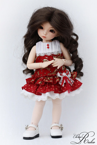 Holiday dress for LittleFee | by elena ruko