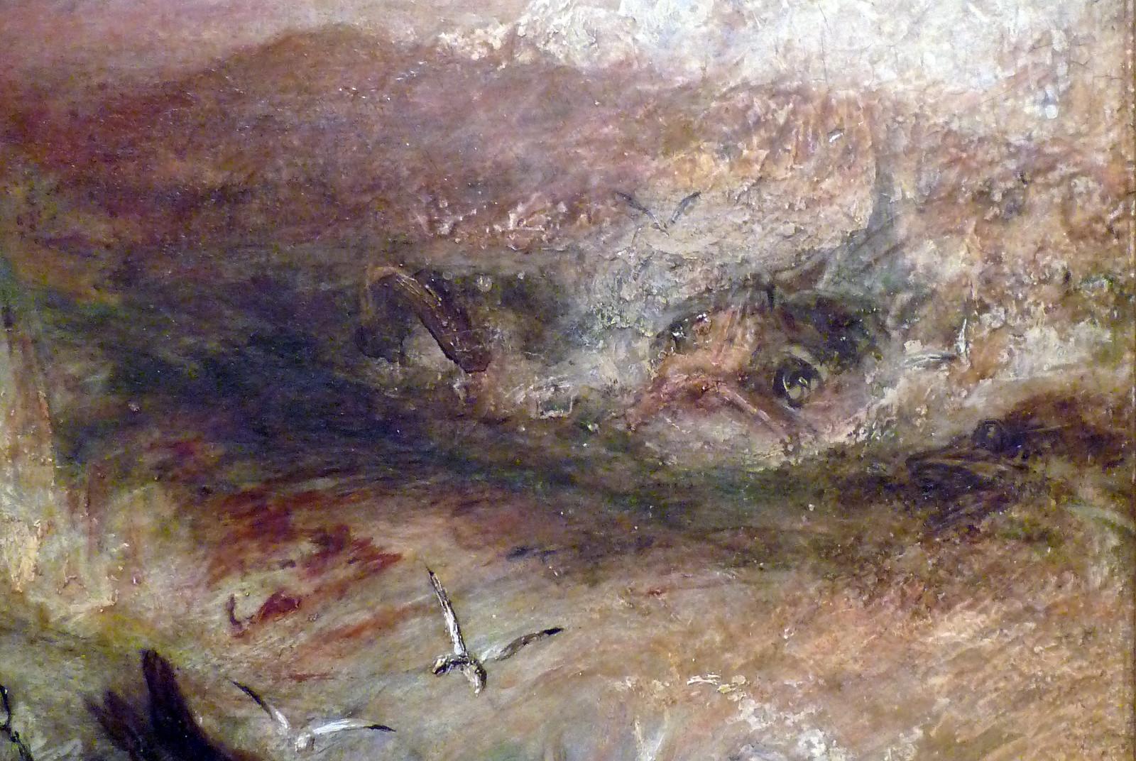 JMW Turner, Slave Ship, detail with shark | by profzucker