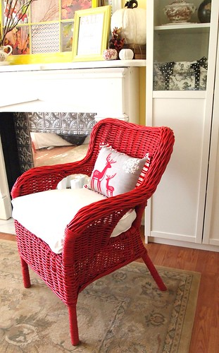 red wicker chair | by A Cultivated Nest