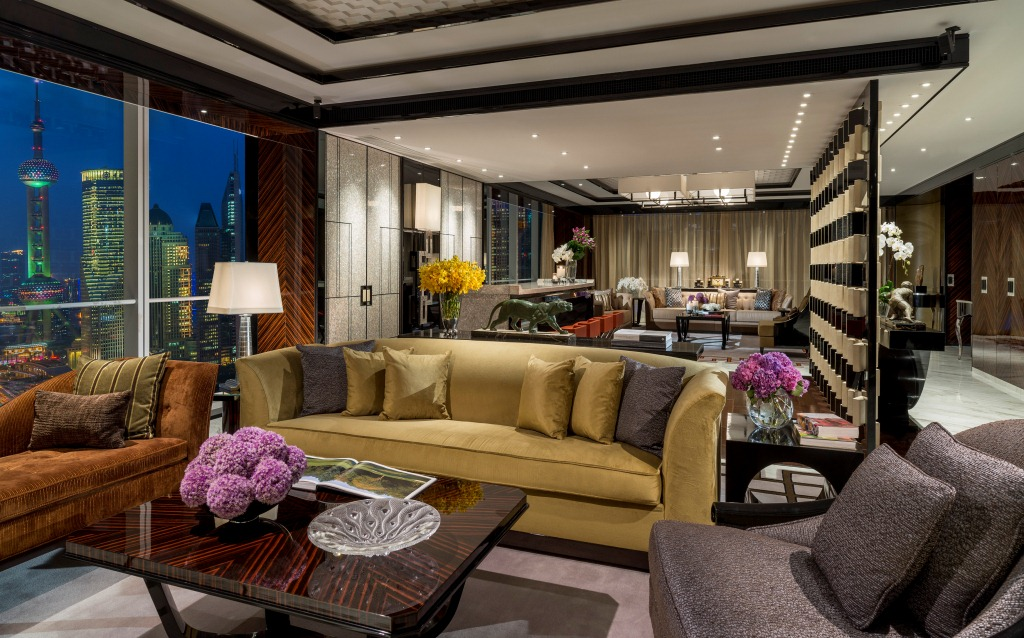 Presidential Suite Living Room | Four Seasons Hotel Pudong ...